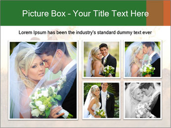 Newlyweds in the field PowerPoint Template - Slide 19