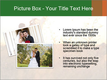 Newlyweds in the field PowerPoint Template - Slide 20