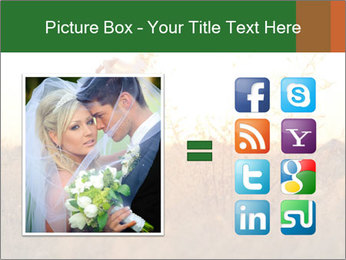 Newlyweds in the field PowerPoint Template - Slide 21