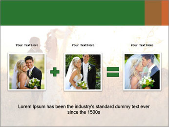 Newlyweds in the field PowerPoint Template - Slide 22