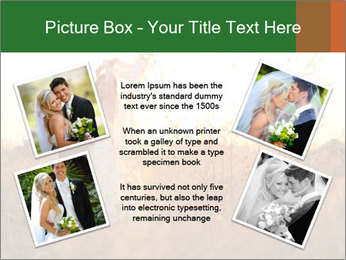 Newlyweds in the field PowerPoint Template - Slide 24
