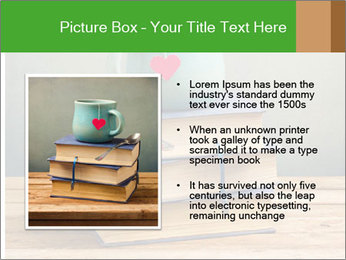 The cup is on the books PowerPoint Template - Slide 13