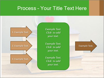 The cup is on the books PowerPoint Template - Slide 85