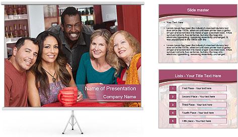 Happy friends PowerPoint Template