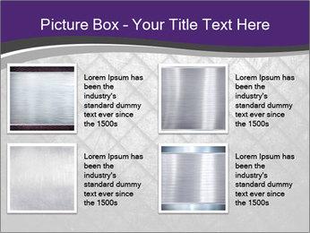 Metal grid PowerPoint Template - Slide 14