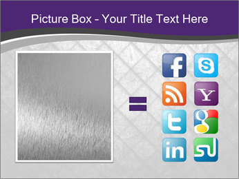 Metal grid PowerPoint Template - Slide 21