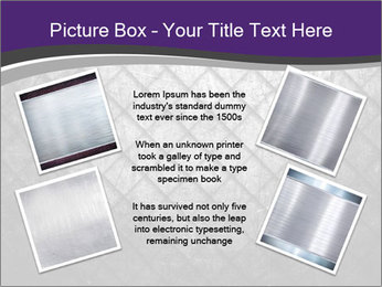 Metal grid PowerPoint Template - Slide 24
