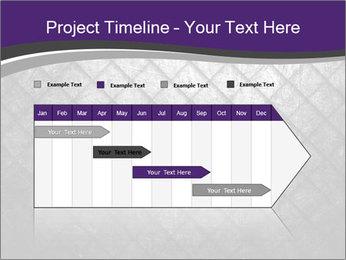 Metal grid PowerPoint Template - Slide 25