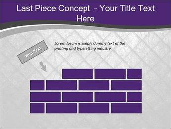Metal grid PowerPoint Template - Slide 46