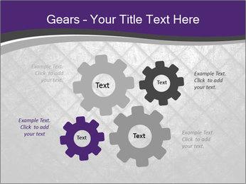 Metal grid PowerPoint Template - Slide 47