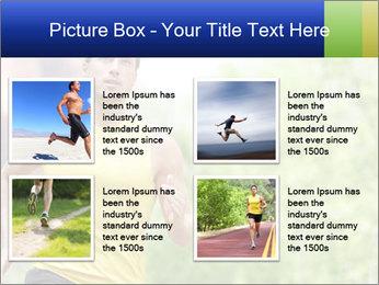 The guy runs PowerPoint Template - Slide 14