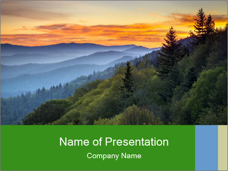 Mountain view PowerPoint Template