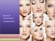 Woman's face PowerPoint Templates