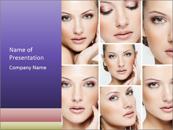 Woman's face PowerPoint Templates - Slide 1