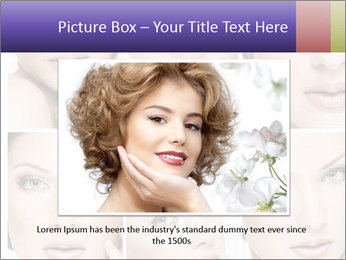 Woman's face PowerPoint Templates - Slide 15