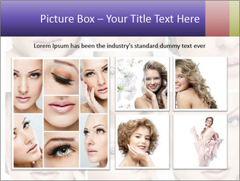 Woman's face PowerPoint Templates - Slide 19