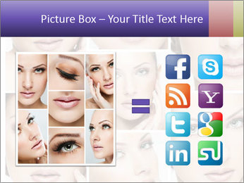 Woman's face PowerPoint Templates - Slide 21