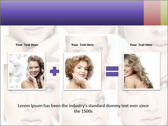 Woman's face PowerPoint Templates - Slide 22