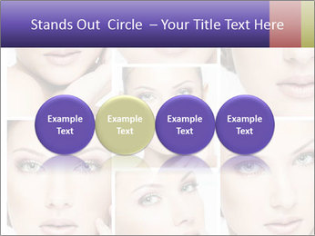 Woman's face PowerPoint Templates - Slide 76