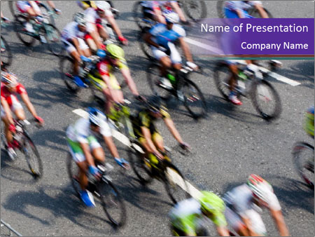 Cyclists PowerPoint Templates