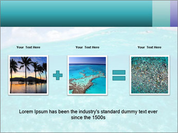 Crystal clear sea PowerPoint Template - Slide 22