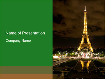 Eiffel Tower PowerPoint Template - Slide 1
