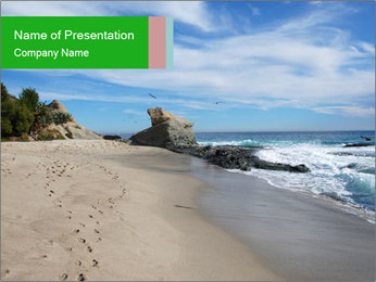 Ocean beach PowerPoint Template - Slide 1