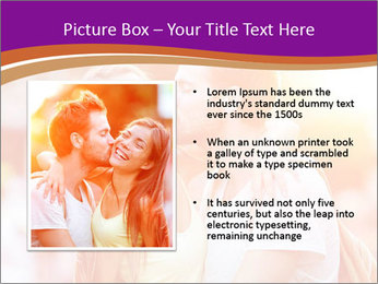 Couple in love in the street PowerPoint Template - Slide 13