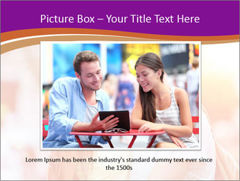Couple in love in the street PowerPoint Template - Slide 15