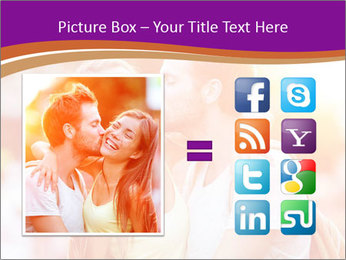 Couple in love in the street PowerPoint Template - Slide 21