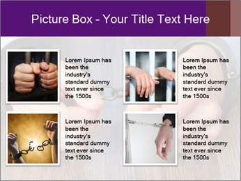 Hands in handcuffs PowerPoint Template - Slide 14