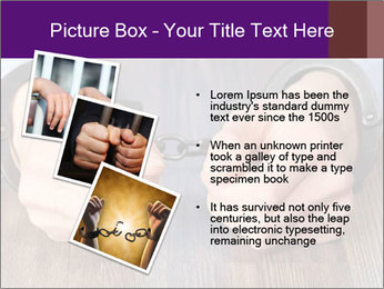 Hands in handcuffs PowerPoint Template - Slide 17