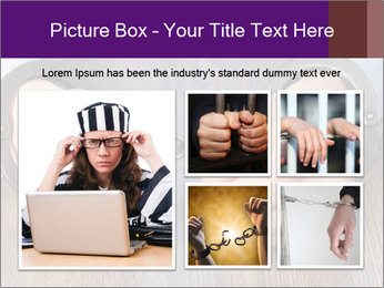 Hands in handcuffs PowerPoint Template - Slide 19