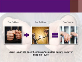 Hands in handcuffs PowerPoint Template - Slide 22