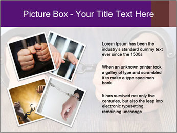 Hands in handcuffs PowerPoint Template - Slide 23
