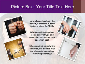Hands in handcuffs PowerPoint Template - Slide 24