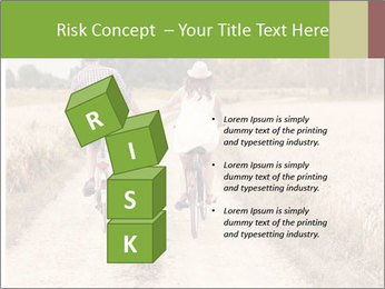 Couple Cycling In Countryside PowerPoint Templates - Slide 81
