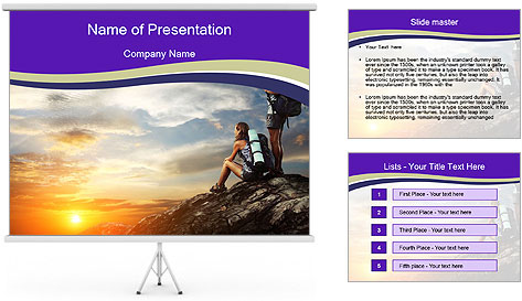 Trekking Point PowerPoint Template