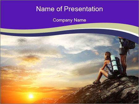 Trekking Point PowerPoint Template