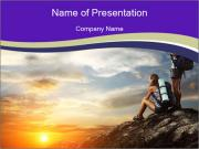 Trekking Point PowerPoint Templates