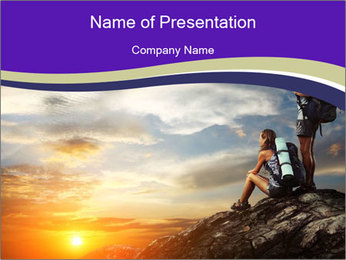 Trekking Point PowerPoint Template - Slide 1