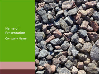 Beach Stones PowerPoint Template - Slide 1