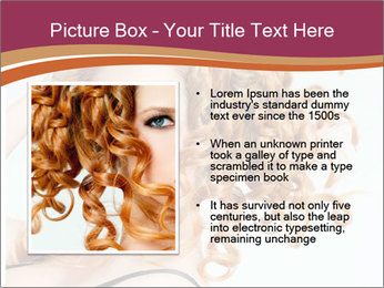 Woman With Red Curly Hair PowerPoint Templates - Slide 13