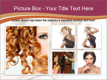 Woman With Red Curly Hair PowerPoint Templates - Slide 19