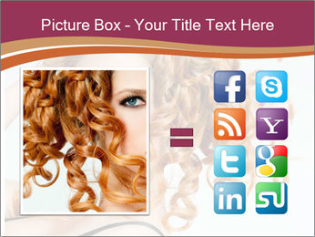 Woman With Red Curly Hair PowerPoint Templates - Slide 21