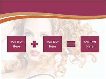 Woman With Red Curly Hair PowerPoint Templates - Slide 95