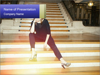 Mid Adult Woman PowerPoint Templates - Slide 1