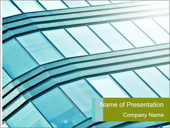 Glass Window Exterior PowerPoint Template - Slide 1