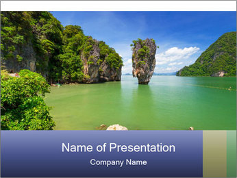 Exotic Thailand PowerPoint Template - Slide 1