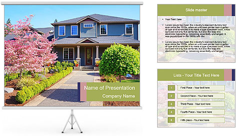 Lovely Cottage PowerPoint Template